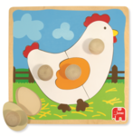 6404: CHICKEN AND EGG INSET PUZZLE