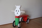 A2-029: Wooden Rabbit Ride On