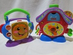 FISHER PRICE CLOCK AND CD PLAYER
