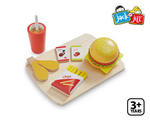 TS7-005: Hamburger Set - Wooden Play Food