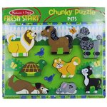 265: Melissa & Doug Pets Wooden Chunky Puzzle