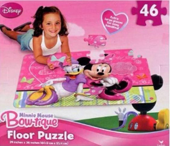 522: Minnie Mouse Bow-tique Floor Puzzle