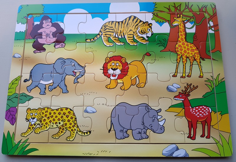608: Jungle Animals Wooden Puzzle