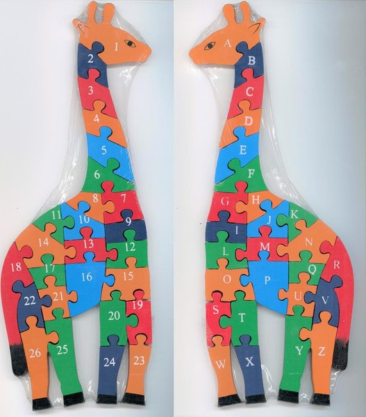 696: Giraffe Wooden Puzzle