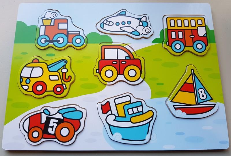 642: Vehicles Wooden Puzzle