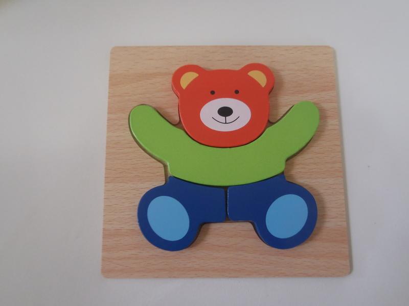 702: SKYFIELD Wooden Bear Jigsaw Puzzles
