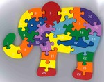719: Letters and Numbers Elephant Puzzle