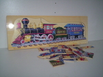 T95515: Railroad Train Wooden Puzzle