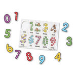741: Melissa & Doug - Numbers Peg Puzzle