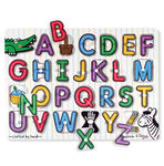 742: Melissa & Doug - See-Inside Alphabet Peg Puzzle