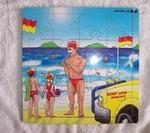 Aussie beach scene puzzle