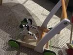 943: Galloping Zebra Push Cart