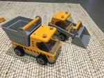 Bulldozer & Truck