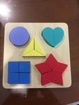 970: Colour and shape puzzle board