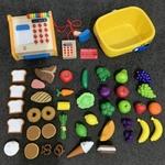 1174: Food & cash register shopping set