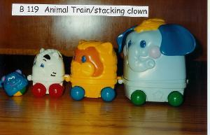 119B: Animal Train/stacking clown