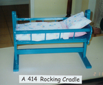 414B: White rocking cradle