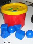 617B: Toddler shape sorter and bucket set