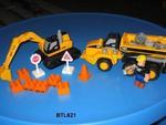 621B: Mega Bloks Excavator & Articulated Dump Truck - Caterpillar Rang