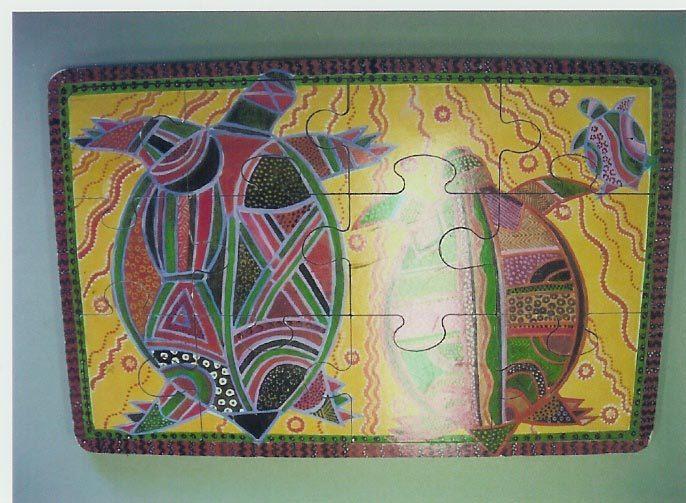 91G: Aboriginal Art: Turtles Puzzle