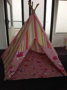 1003: Pink Stripes Teepee