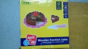 1162: Wooden Fraction Cake
