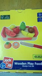 1163: Wooden Fruit Set