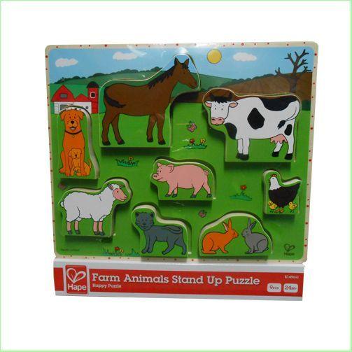 1242: Hape Farm Animals Stand Up Puzzle