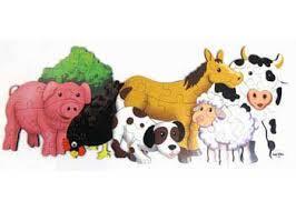 1211: Farm Animal Floor Puzzle
