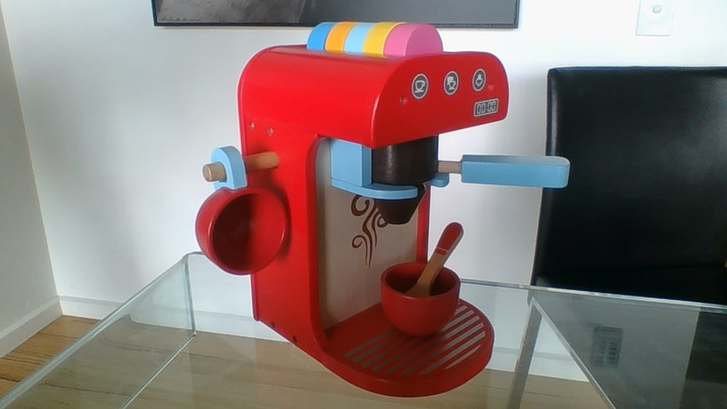 205: Wooden Coffee Machine