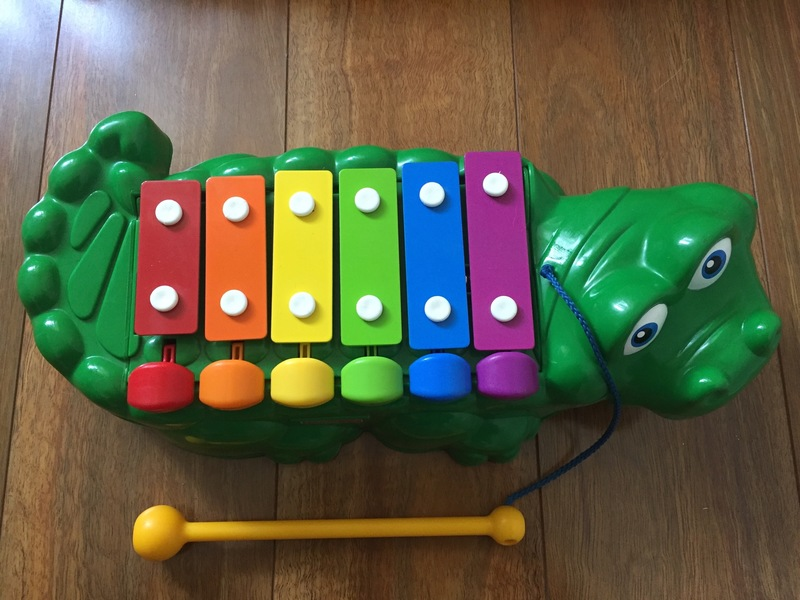 258: Crocodile pull-along xylophone