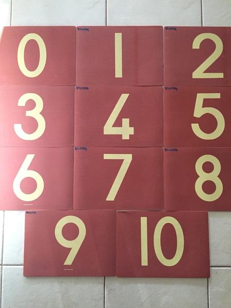 0586: Number floor mats