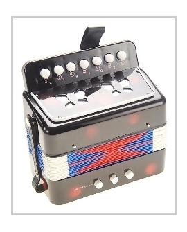 0683: Black small accordion