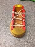 0233: Wooden Lace Shoe