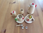 0379: Wooden Tea Set