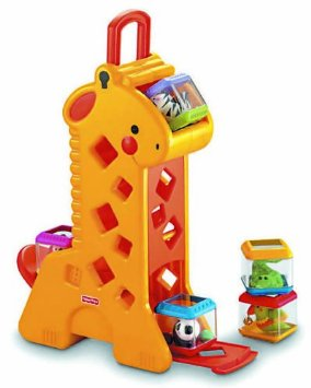 0902: Fisher Price Peek-a-blocks Tumblin Sounds Giraffe