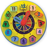 0944: Melissa and Doug Wooden Learning Clock