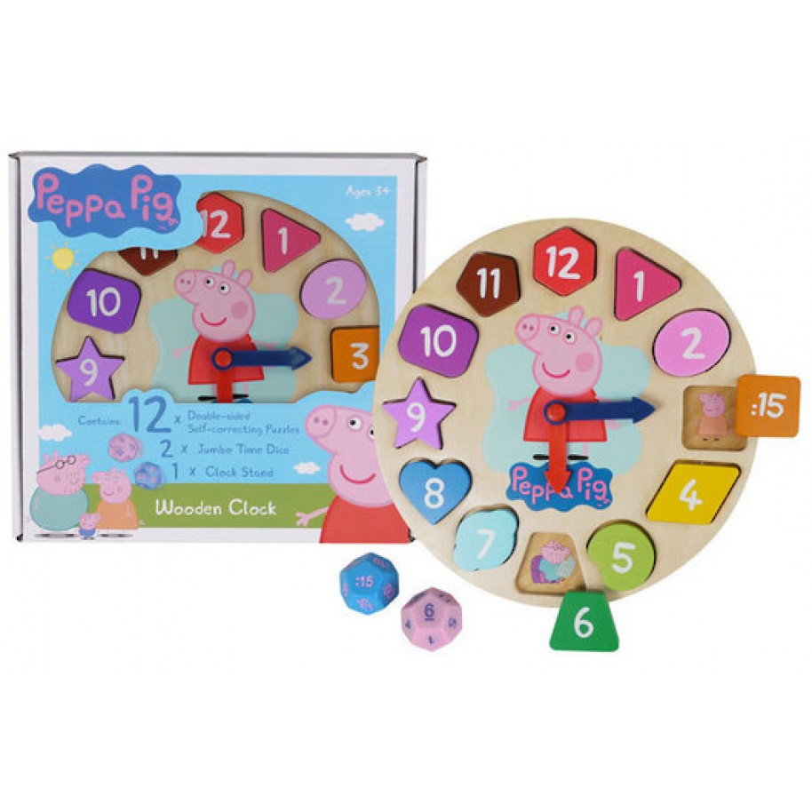 0955: Peppa Pig Wooden Learning Clock