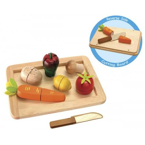 0999: Wooden Vegetable Cutting Set