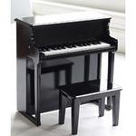 0061: Hip Kids Wooden Black Piano & Stool