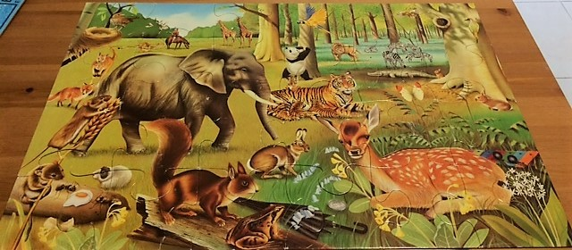 P0208: My Animal Floor Puzzle