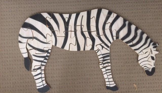 P0230: Zebra/Horse Floor Puzzle