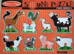 P368: Melissa & Doug Farm Animals Sound Puzzle