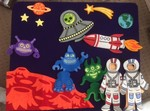 P0464: Space Adventure Felt Board