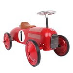 0001: Vintage Red Ride on Car (metal)