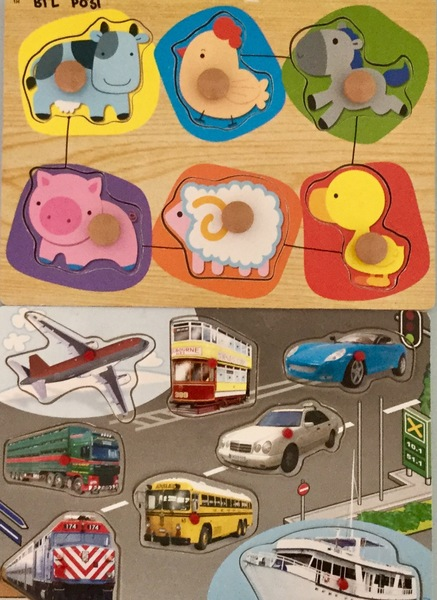 P031: Vehicle & Animal Pin Puzzles