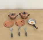 0487: Metal cookwear set