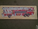 P0079: Fire truck wooden puzzle