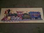 P0081: Railroad train wooden jigsaw