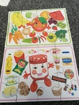P93A:  2 x healthy eating puzzles